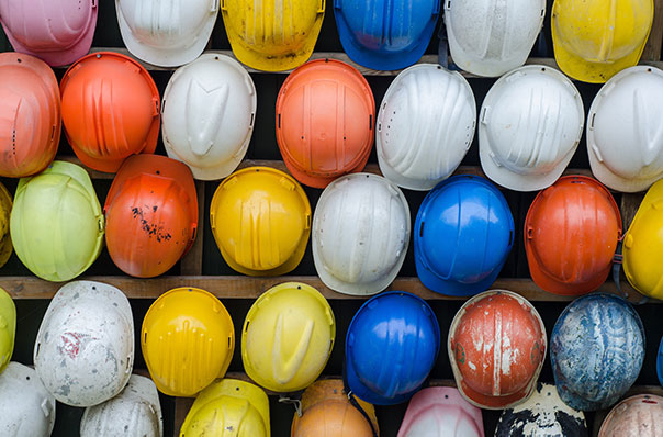 Construction hard hats for safety